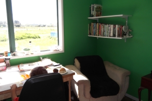 My craft room - with the Joeyosaurus crafting in it - how can that be - the sign says NO BOYS!