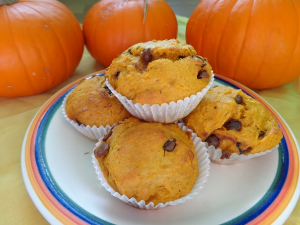 The much awaited and very delicious pumpkin chocolate chip muffins