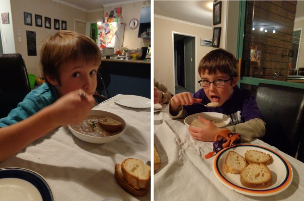 It does my heart good to see the kids scoffing my turnip soup.