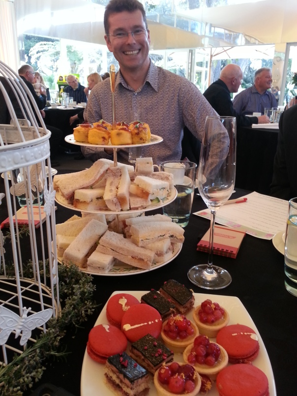 The Yates Country Manager David Mortimer, and some of the most delightful (and delicious) party food