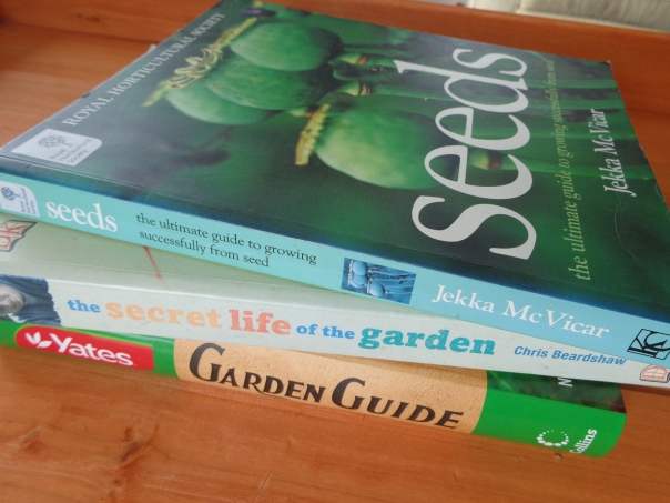 Consider books when looking for information about gardening.  There is no point having a vast collection of books if you ignore them in favour of the internet all the time.