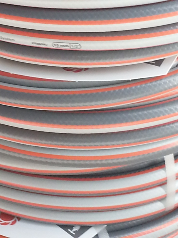 This is a delight to see - a giant stack of hoses - I must be a little mad!