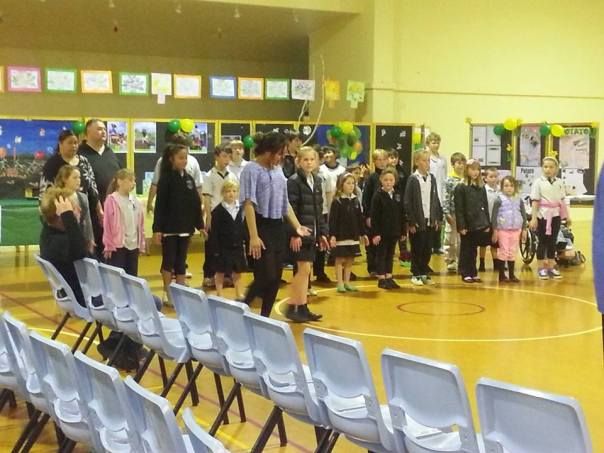 The delightful kids from our school performing a powhiri.  I was very honoured indeed.