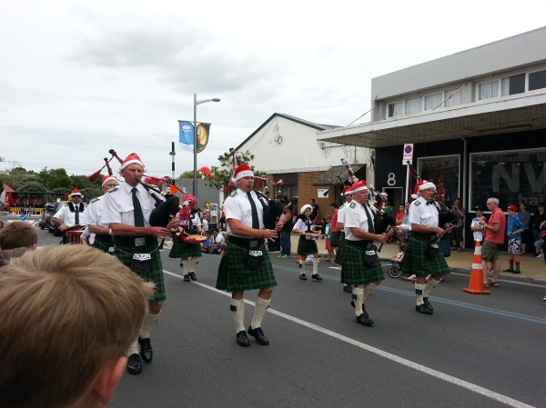 ... and bagpipes