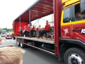 What parade would be complete without a brass band...