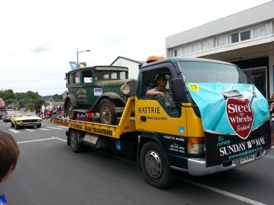 Other floats included old cars