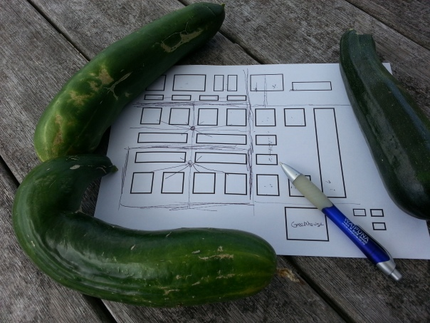 cucumbers make fabulous paper weights!