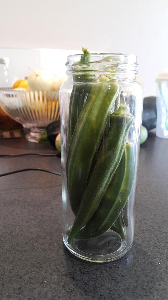 Okra in a jar