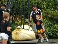 This little lad was right to be proud of what he had grown. The Great Pumpkin Carnival