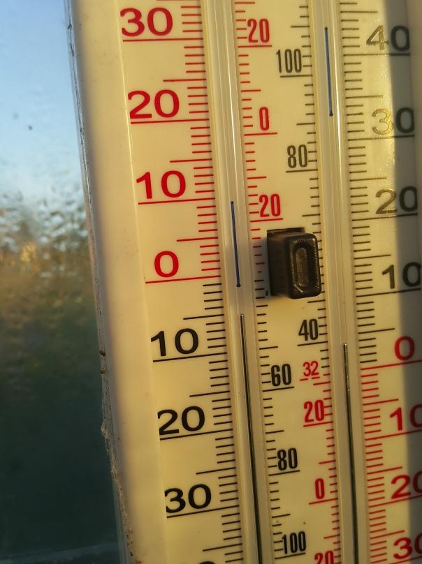 minimum temperature  of 1C