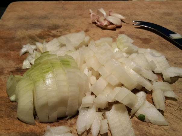 The obligatory onion and garlic, where would we be without them?