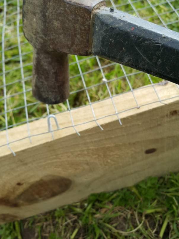 ... secure a wire mesh...