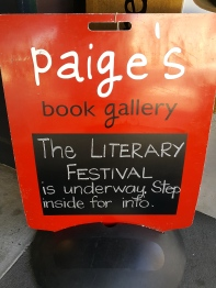 Thanks to the wonderful people at Paiges Book Gallery who supported all the authors so well.