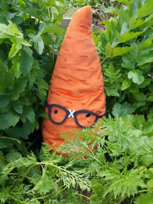 Gardenerd in the carrots