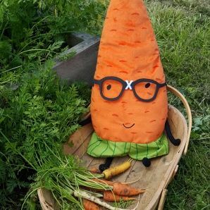 Gardenerd getting to know the carrots