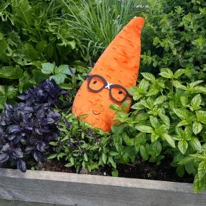 Gardenerd in the herbs