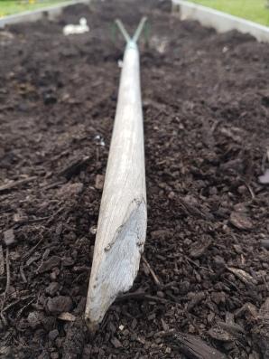 Broken cultivator