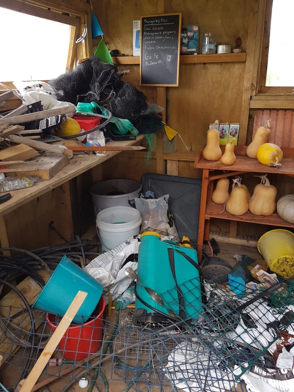 A messy shed
