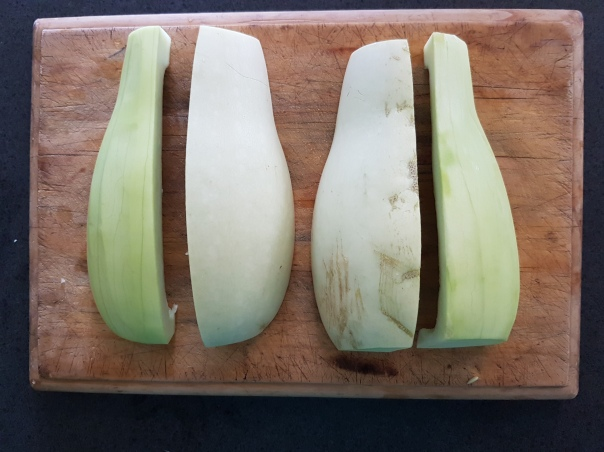 Peeled marrow