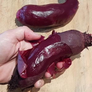 Peel beetroot