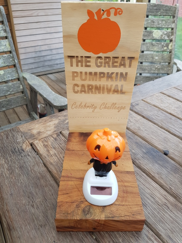 The Great Pumpkin Carnival Celebrity Challenge trophy