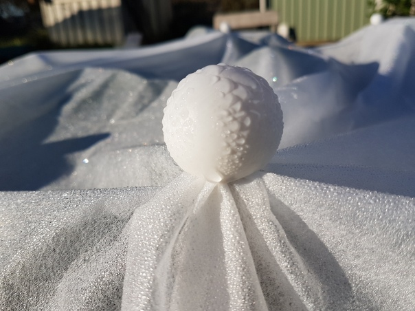 Securing frost cloth