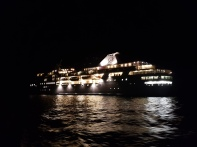 Cruise ship by night