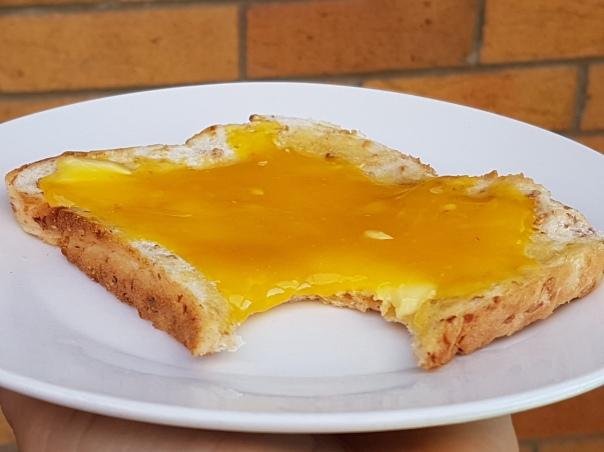 Lemon Honey on hot buttered toast