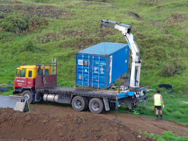 Shipping container removal