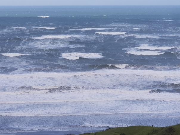 storm whipped ocean