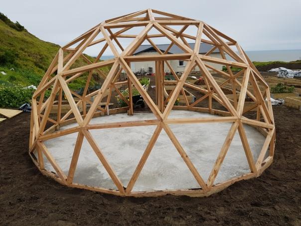 Concrete floor of the dome