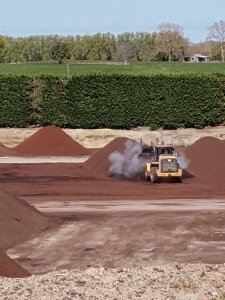 turning compost industrially