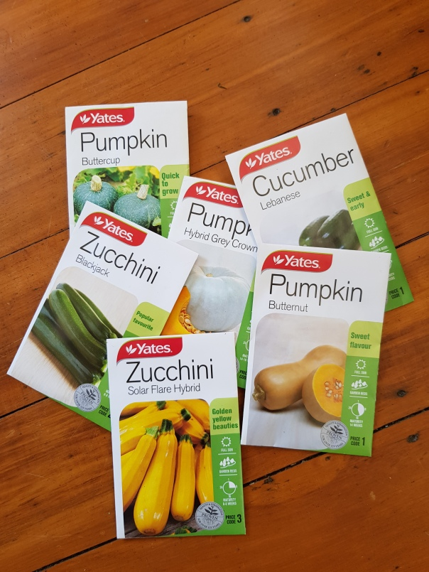 Pumpkin, cucumber and Zucchini seeds