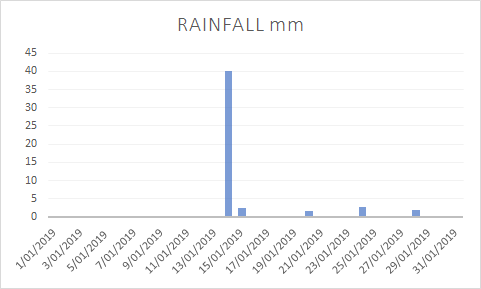 Jan 19 rainfall