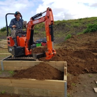 A digger was a faster way to fill the beds