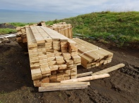 The wood for the beds