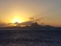 Sunset over Moorea