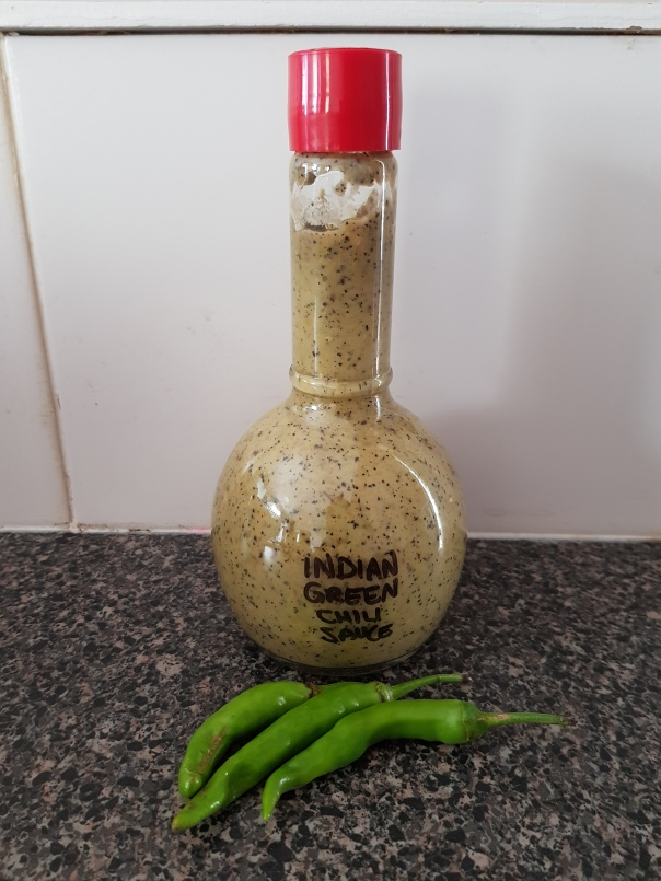 Jwala green chilli sauce