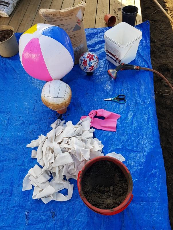 concrete beach ball supplies