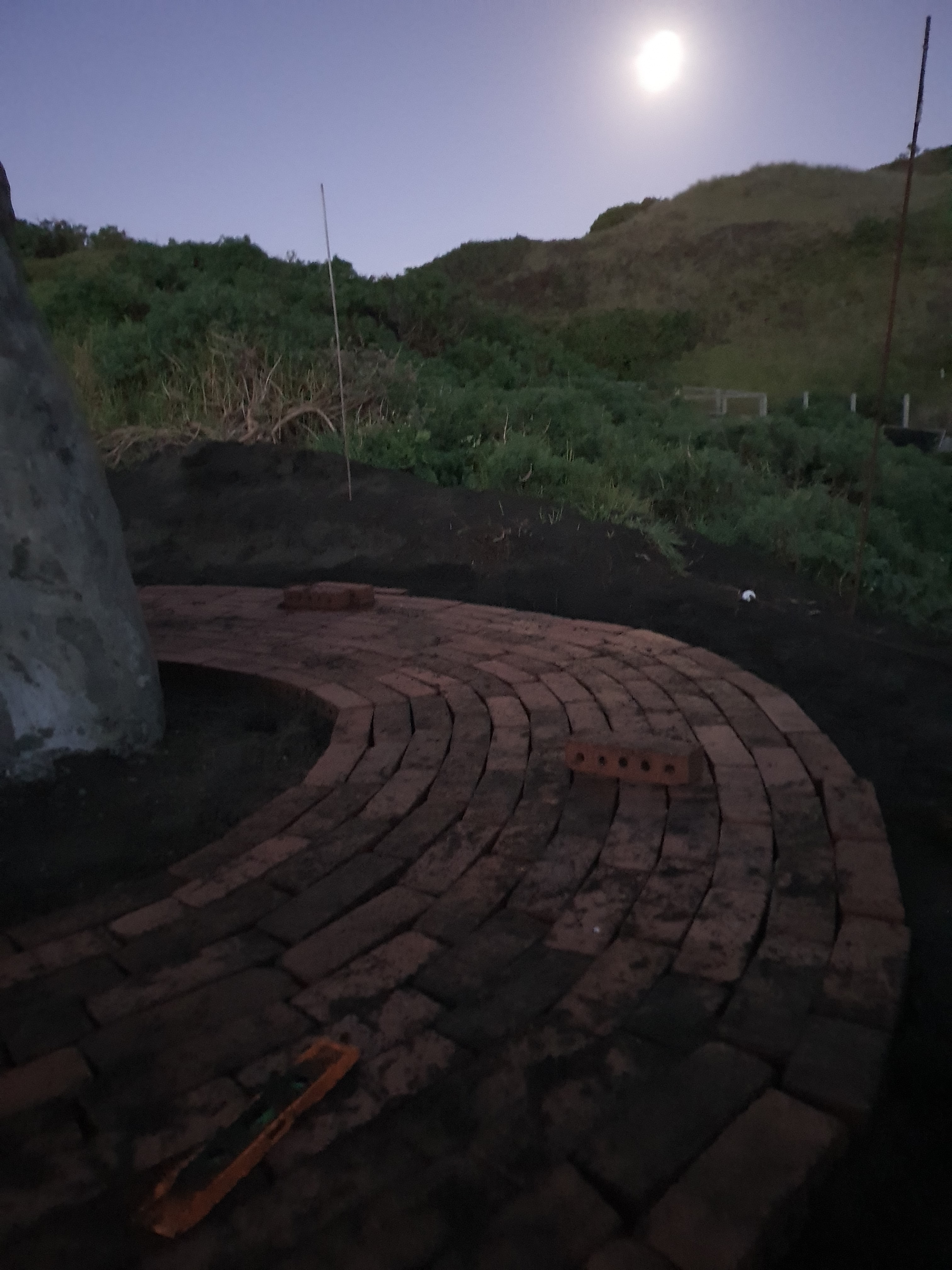 Paving in the moonlight